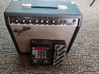 Fender 25r Frontman guitar amp and digitech rp255 effects processor