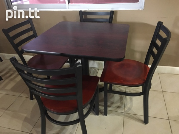 RESTUARANT TABLE AND CHAIR SETS-3
