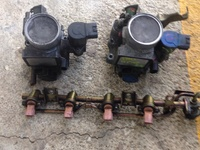 Throttle bodies and fuel rail
