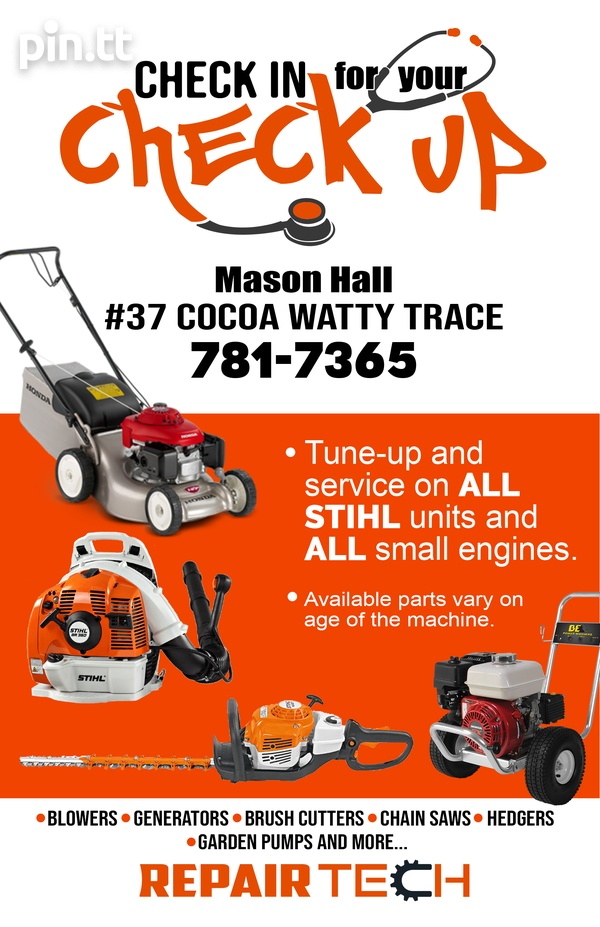 Small Engine Repair and Services - Get your machines fixed in 2-3 days-1