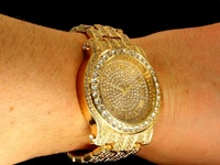 Techno Pave All Gold Diamond Watches Brand New