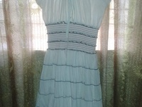 White midlength sunday dress