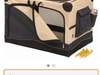 Dog crate with bed and free clicker
