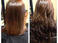 Human hair extensions installation, add body or length to fine hair