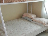 Powder coated bunks bed with two mattresses