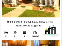 Welcome Estate Cunupia 3 Bedroom House