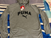 Puma Original Long Sleeve Hooded T Shirt Size L New With Tags