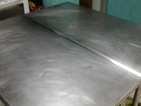 One stainless steel table