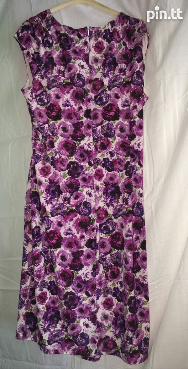 Floral Patterned wrap-like dress-2