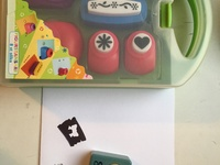9 cut out stamps