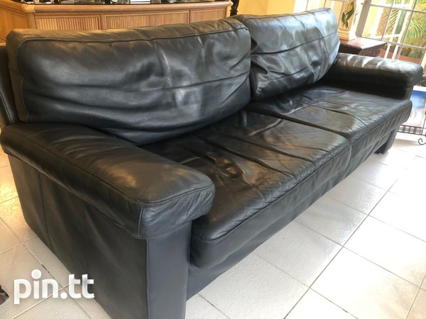 Couch, Genuine Leather-2