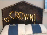 Black and Gold Reversible Sequin Headboard