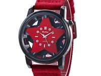 Canvas material wristband watch