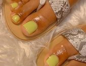 Acrylic toes and pedicures