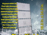 Super Powerful 400W LED Flood Lights, Waterproof IP65 with 36000LM