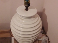 Large white pair of lamps