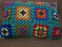 Crochet throw pillows