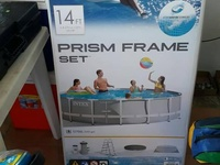 Intex Prism shaped 14ft Pool Set