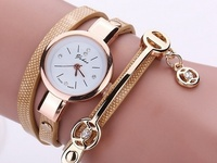 FeelinGirl 2017 Fashion New Summer Style Leather Casual Bracelet Watch
