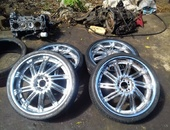 20 inch chrome and 16 inch BMW rims