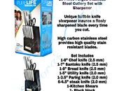13pc Stainless Steel Cutlery Set with Block