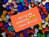 10pcs starry sky bowknots for 3d nail art