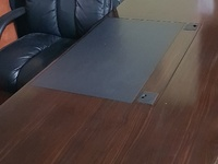 Executive desk, chair and credenza