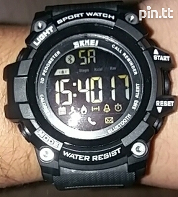 Waterproof Bluetooth Smart Watch G-Shock style, works with any phone-6