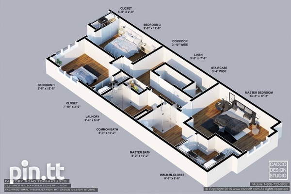 Piarco Duplexes with 3 Bedrooms-7
