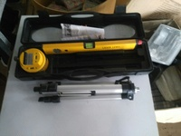 3 Piece Laser Level Kit- Tripod-Rotary Base-Cross Laser Level