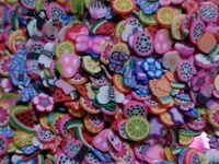 mixed Fimo slices