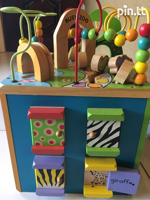 Wooden Busy Zoo Toy Box-3