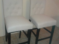 Brand new in box - 29 inch Beige Tufted Bar Stools-Set of 2