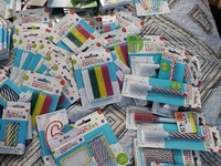 Closed out Greeting Gards Birthday Candle Gift Bags Stock for 2 Years
