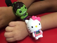 Kids watches avengers and hello kitty