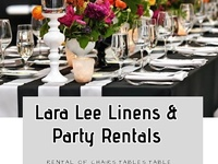 Linens and party rentals