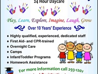 24hour daycare and playgroup now enrolling