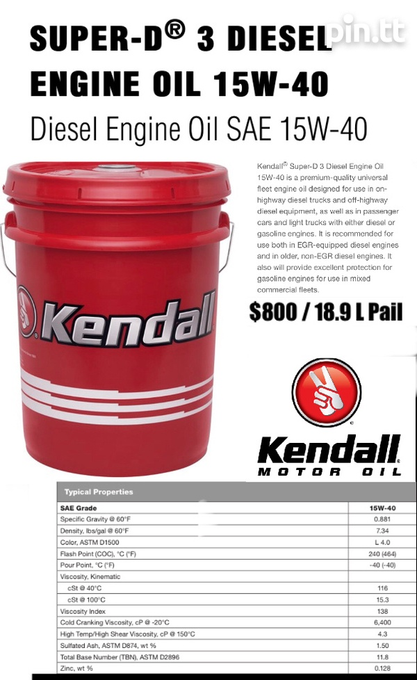 Kendall Super D3-Diesel Engine Oil 15W40