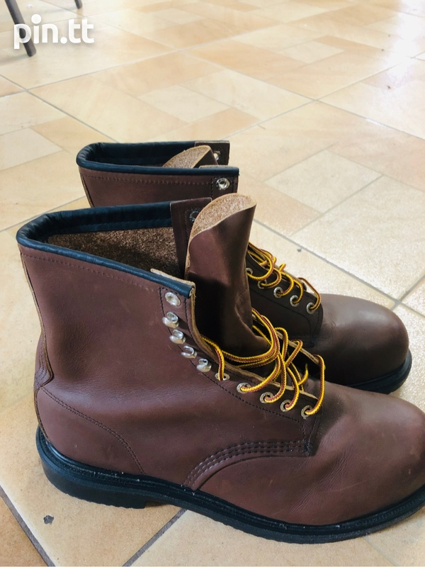 Red wing steel toe boots-3