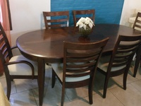 7 piece Expandable Dining Table Set