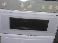Big 5 burner kitchen stove, Samsung fridge and 5cubic feet deep freeze