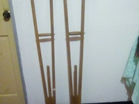 Pair of wooden crutches
