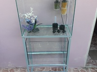 Two Aquariums, Plants, Filters and Aquarium Stand. USED.