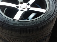 17inch five hole rims/ 245/45 tires A1condition.