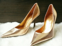 New DESIGNER Guess by Marciano Pearlised Patent Leather Pumps 6.5
