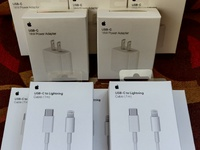 Apple USB-C 18WATT Power Adapter+Apple USB-C 1M Lightning Cable New