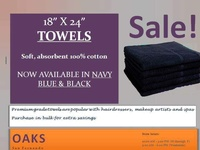 Soft, Cotton towels in black and navy blue colours.