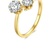 Zircon stainless steel ring 7 to 11