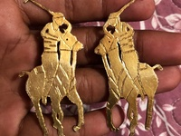 Gold Polo Earring