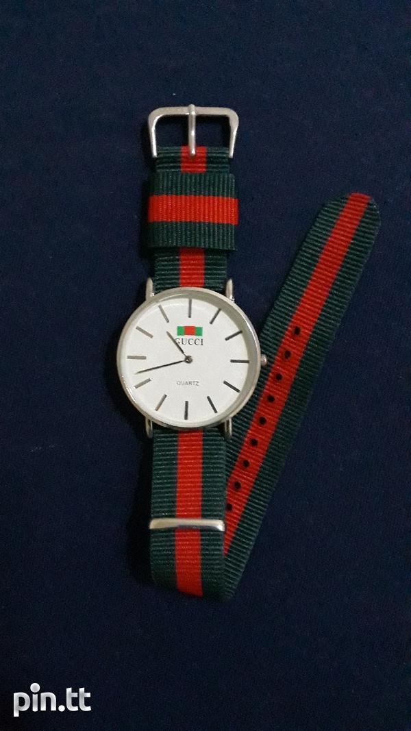 White Gucci Watch Unisex-4